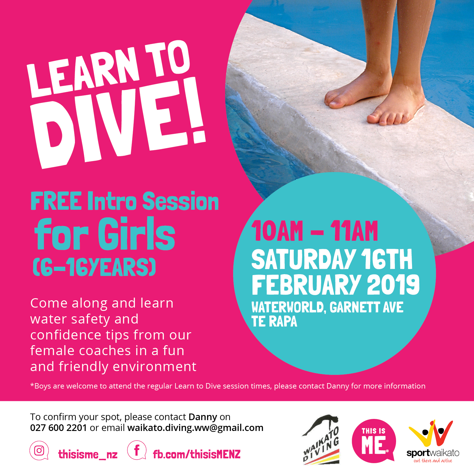 Intro Learn to Dive Session for Girls (6-16years) Feature Image